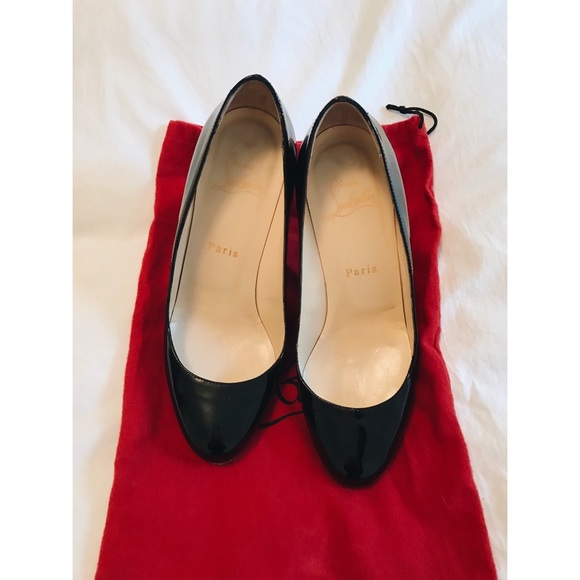 promo code 27ea7 af7ad Christian Louboutin Simple 85 Patent Leather Pumps
